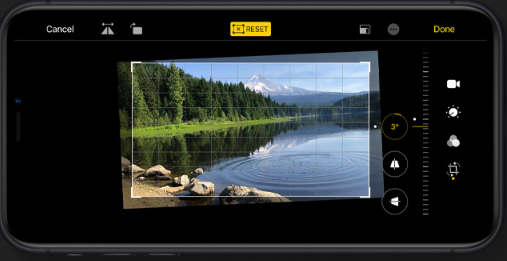 Fotobewerking iOS 13 iPad