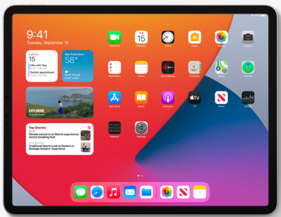 Widgets iPadOS 14